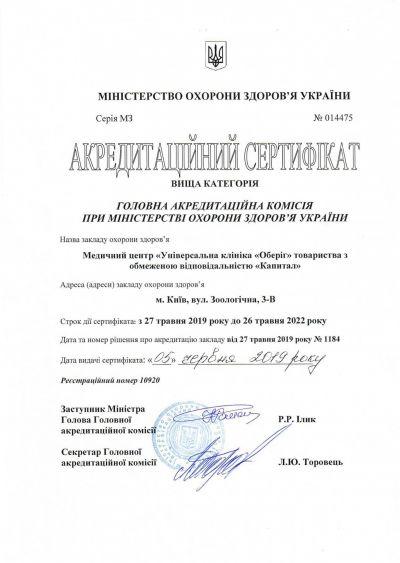 Сертификат акредитации